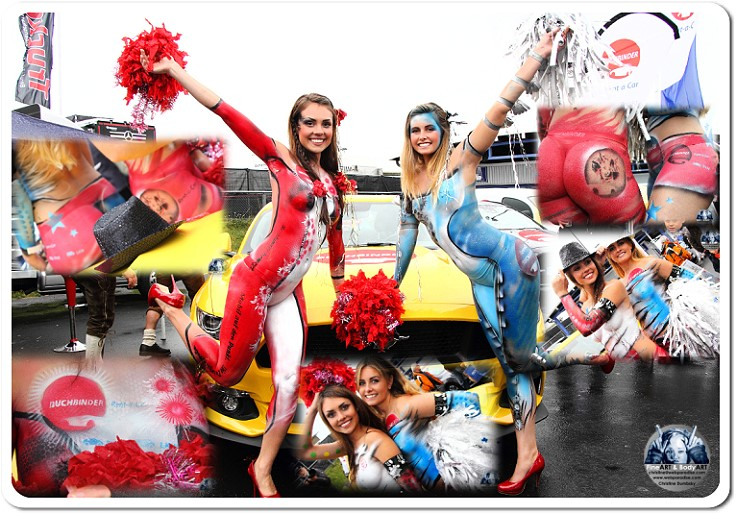 bodypainting, bodypaint, bodypaintings, bodypaints, body-painting, body-paint, bodyart, nürburgring, nuerburgring, formel 1, trucker grand prix, messekünstlerin, messekünslter, weltmeister, weltmeisterin, bodypainting-cheerleader, cheerleader, cheerleadergirls, buchbinder, rent a girl for bodypaint and color your live event with the international artist Christine Dumbsky