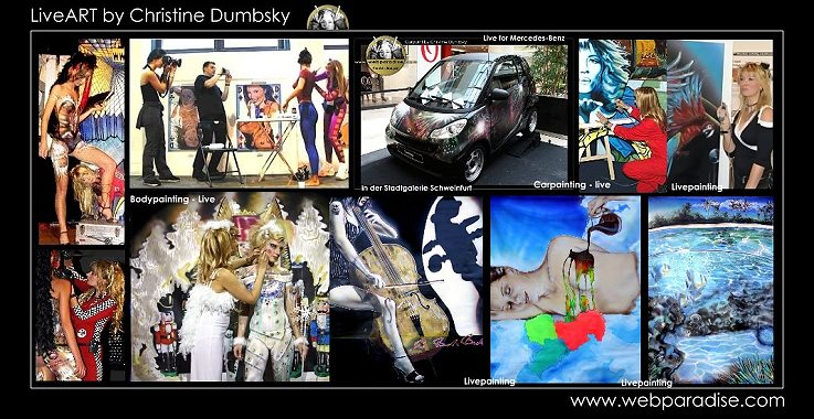 Live Painting - Actionpainting - live on canvas, cars or customer displays or Bodypainting for your event